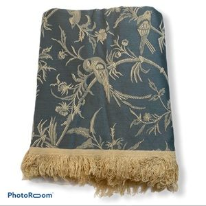 Vintage 80's Decorator Upholstery Fabric Bird